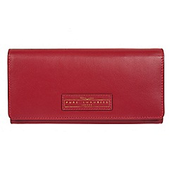 Pure Luxuries London - Light red 'Honor' handcrafted leather 16-card RFID purse