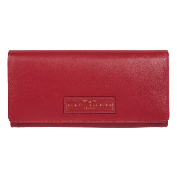 Light RFID leather handcrafted Luxuries red London 16 'Honor' card purse Pure qwPERzx