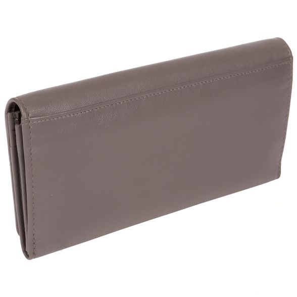 Pure 'Honor' purse leather Taupe 16 grey London card Luxuries RFID rAw147r