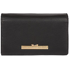 Pure Luxuries London - Black 'Swift' leather tri-fold purse
