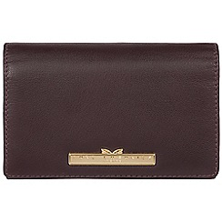 Pure Luxuries London - Plum 'Swift' leather tri-fold purse