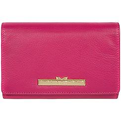 Pure Luxuries London - Sangria 'Swift' leather tri-fold purse