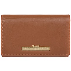Pure Luxuries London - Tan 'Swift' leather tri-fold purse