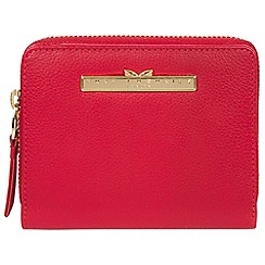Pure Luxuries London - Barbados cherry 'Piper' leather bi-fold purse