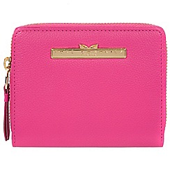 Pure Luxuries London - Fuchsia 'Piper' leather bi-fold purse