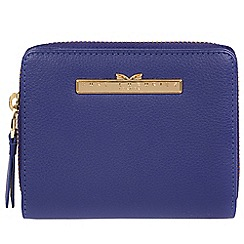 Pure Luxuries London - Navy blue 'Piper' leather bi-fold purse