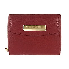 Pure Luxuries London - Red 'Christie' fine leather purse - Deluxe Collection