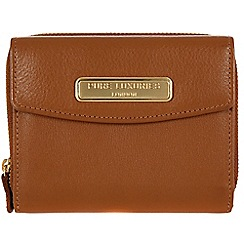 Pure Luxuries London - Tan fine leather purse - Deluxe Collection