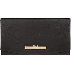 Pure Luxuries London - Black 'Lark' leather tri-fold purse