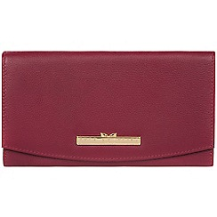 Pure Luxuries London - Pomegranate 'Lark' leather tri-fold purse