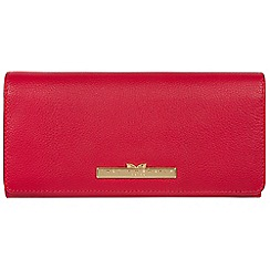 Pure Luxuries London - Barbados cherry 'Pipit' leather bi-fold purse