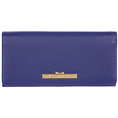 Pure Luxuries London - Navy blue 'Pipit' leather bi-fold purse