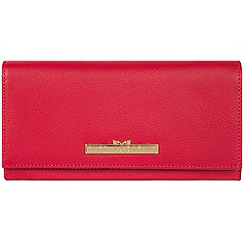 Pure Luxuries London - Barbados cherry 'Wren' leather bi-fold purse