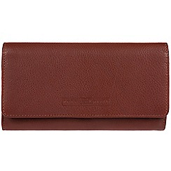 Pure Luxuries London - Dark tan 'Gina' fine cowhide RFID purse  Deluxe Collection