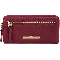 Pure Luxuries London - Pomegranate 'Starling' leather zip round purse