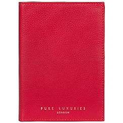 Pure Luxuries London - Barbados cherry 'Jet' handcrafted leather passport holder