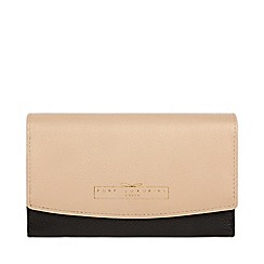 Pure Luxuries London - Black and champagne 'Tulip' tri-fold leather purse