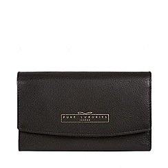 Pure Luxuries London - Black 'Tulip' tri-fold leather purse
