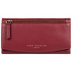 Pure Luxuries London - Red 'Jessie' soft leather RFID purse