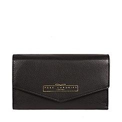 Pure Luxuries London - Black 'Marsha' compact leather RFID purse