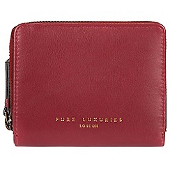 Pure Luxuries London - Red 'Marsha' compact leather RFID purse