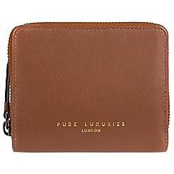 Pure Luxuries London - Tan 'Marsha' compact leather RFID purse