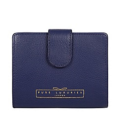 Pure Luxuries London - Cobalt blue 'Maple' black RFID purse