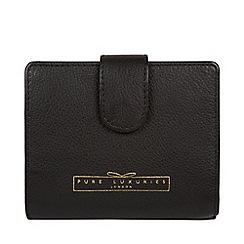 Pure Luxuries London - Black 'Tanya' zip around RFID purse