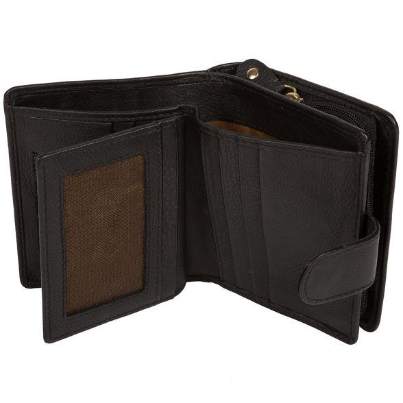 Black purse RFID around Pure Luxuries zip 'Tanya' London qwExzZ68O