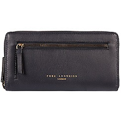 Pure Luxuries London - Navy 'Tanya' zip around RFID purse