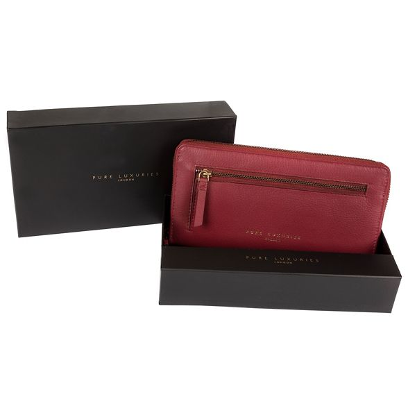 Pure Red around purse 'Tanya' RFID London Luxuries zip ffCWwn46q