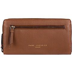 Pure Luxuries London - Tan 'Tanya' zip around RFID purse