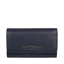 Pure Luxuries London - Midnight navy 'Freesia' black RFID purse