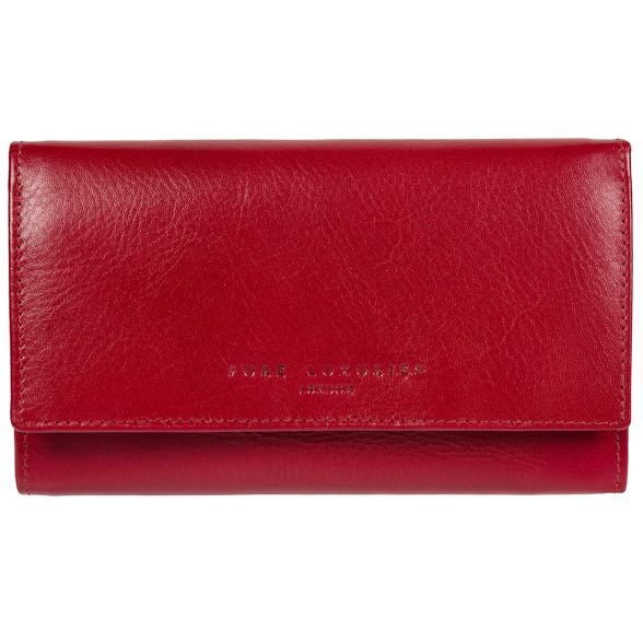 leather London clasp Pure RFID kiss purse 'Emmaline' Luxuries Red 5BYwB0H
