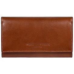 Pure Luxuries London - Tan 'Emmaline' RFID kiss-clasp leather purse