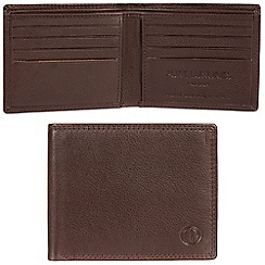 Pure Luxuries London - Brown 'Millom' leather 8-card RFID wallet  Classic Collection