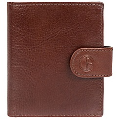 Pure Luxuries London - Brown 'Grovenor' natural leather RFID wallet
