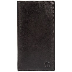 Pure Luxuries London - Black 'Finisbury' fine cowhide leather RFID tall wallet