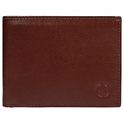 Pure Luxuries London - Brown 'Cromwell' vegetable-tanned leather wallet