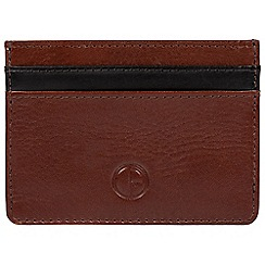 Pure Luxuries London - Brown 'Menai' vegetable-tanned leather card holder