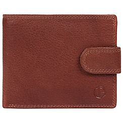 Pure Luxuries London - Dark tan 'Thorn' handcrafted leather wallet
