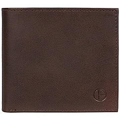 Pure Luxuries London - Vintage brown 'Soloman' leather bi-fold wallet