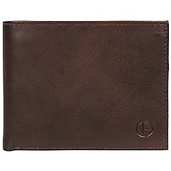 Pure Luxuries London - Vintage brown 'Irving' handmade leather wallet