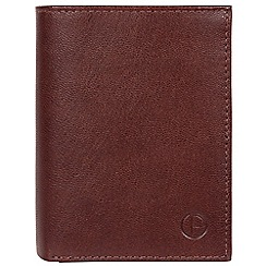 Pure Luxuries London - Dark brown 'Dillon' leather bi-fold wallet