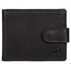 Pure Luxuries London - Black 'Tempest' bi-fold leather wallet