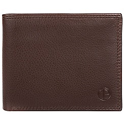 Pure Luxuries London - Brown 'Baltimore' bi-fold leather wallet