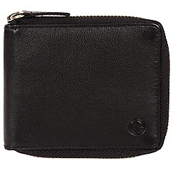 Pure Luxuries London - Black 'Tornado' black zip-round RFID wallet