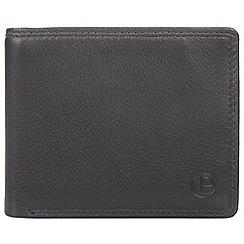 Pure Luxuries London - Gun Metal 'Wellington' bi-fold leather wallet
