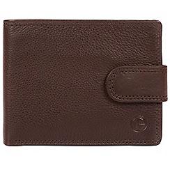 Pure Luxuries London - Brown 'Typhoon' bi-fold leather wallet