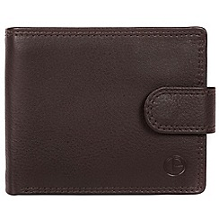 Pure Luxuries London - Black coffee 'Spitfire' bi-fold leather wallet